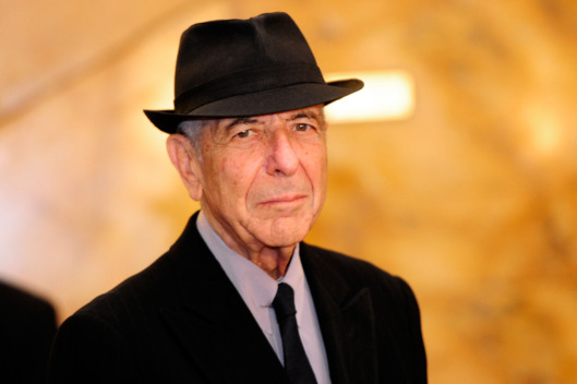 Canadian singer Leonard Cohen arrives at