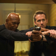 "Samuel L Jackson ""Darius Kincaid"" and Ryan Reynolds as ""Michael Bryce"" in THE HITMAN'S BODYGUARD. Photo by Jack English."