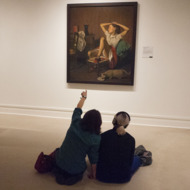 Balthus painting hangs in the MET