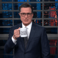 Stephen Colbert is Hawking Mugs to Buy Meals for Furloughed Government Workers