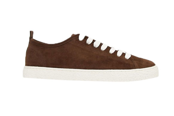 Brown Faux Suede Sneakers