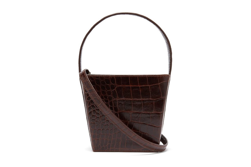 Edie Croc-Effect Leather Tote