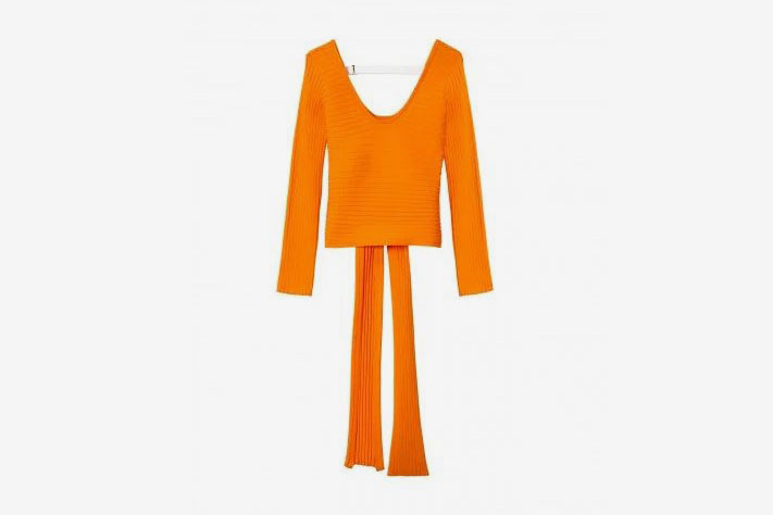 Tibi Decollette Wrap Pullover