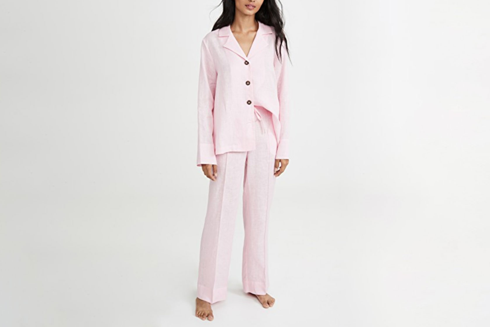 Sleeper Relaxed-Fit Linen Pajama Set