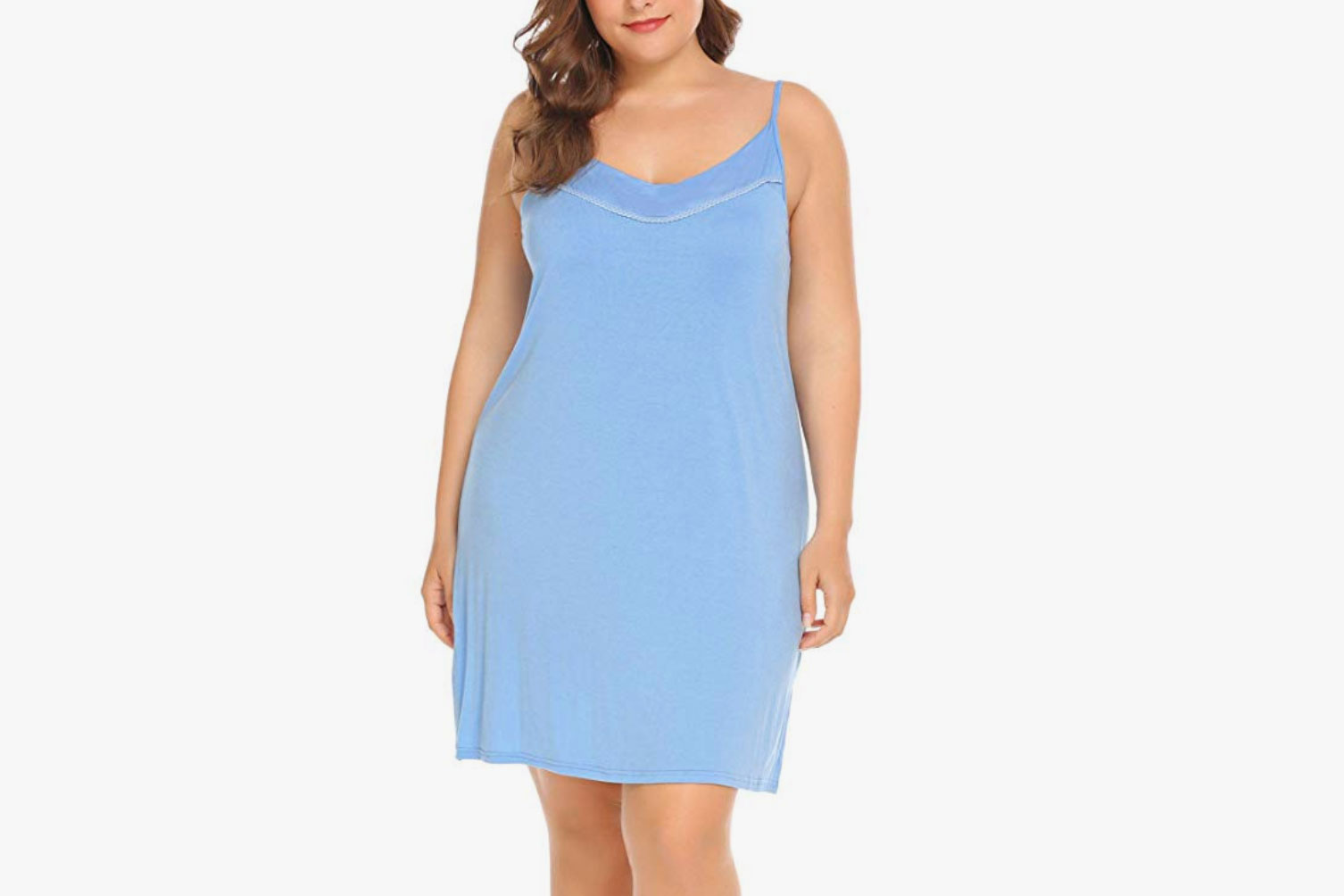 IN'VOLAND Women's Full Slips Plus-Size Nightgown