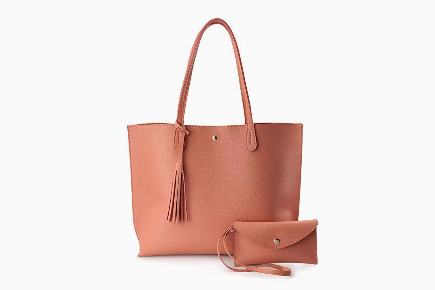 Hoxis Minimalist Faux Leather Tote