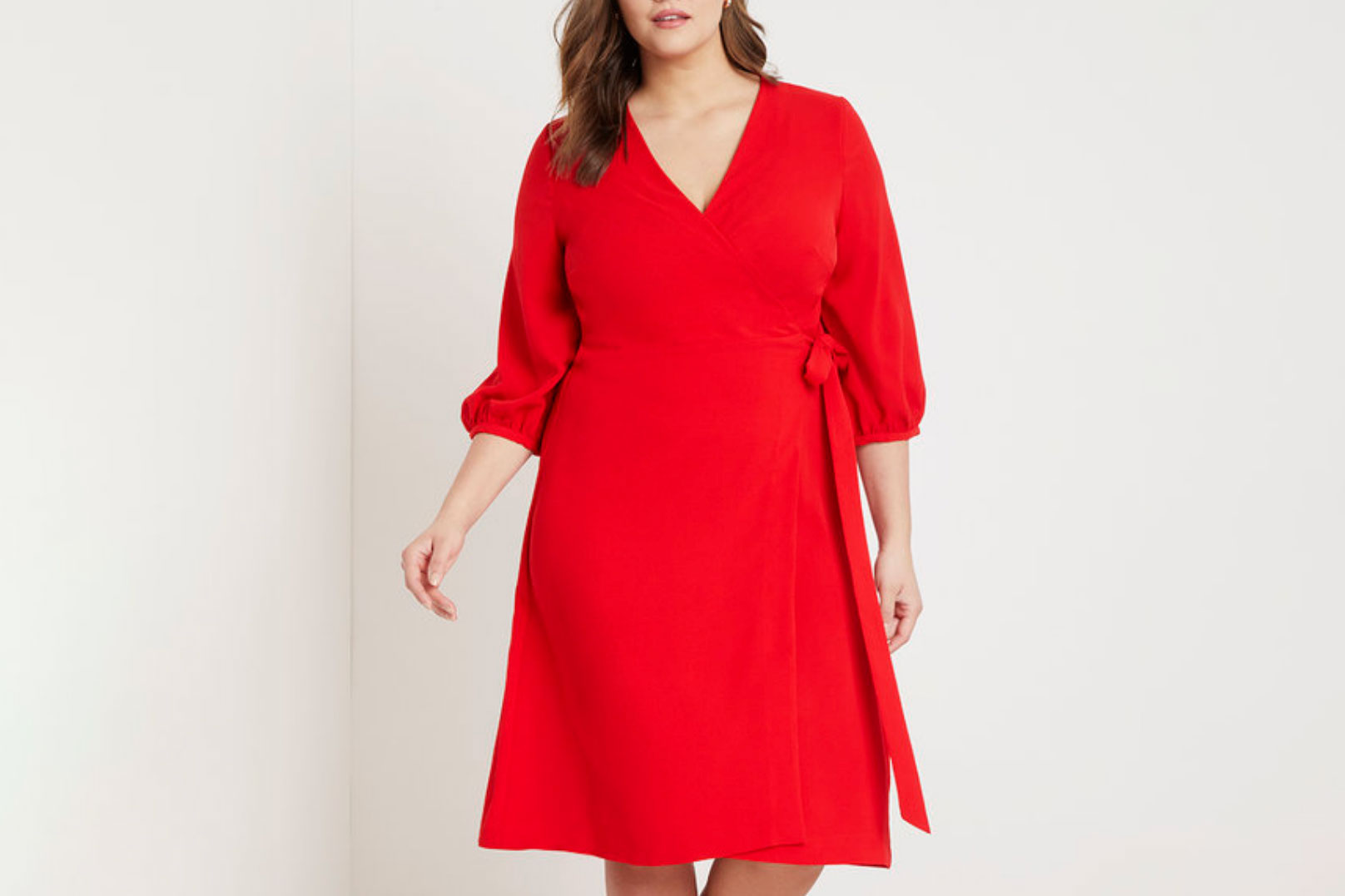 Eloquii Premier 3/4 Sleeve Wrap Dress