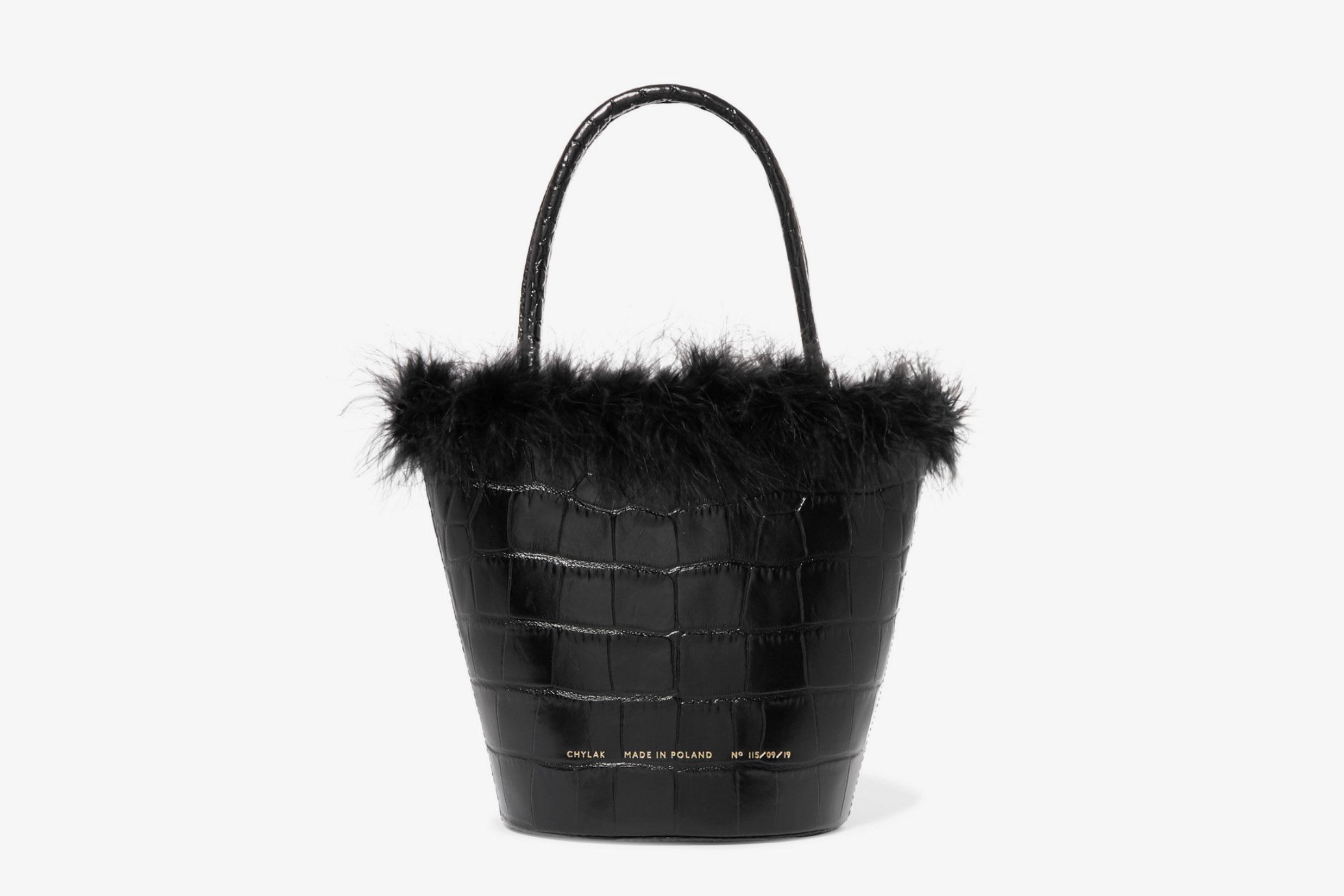 Chylak Feather Trim Bag