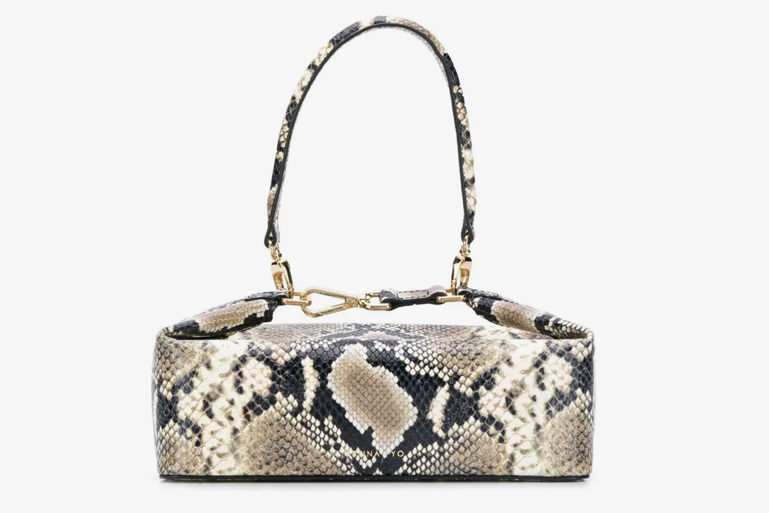 Rejina Pyo Olivia Snake-Effect Box Bag