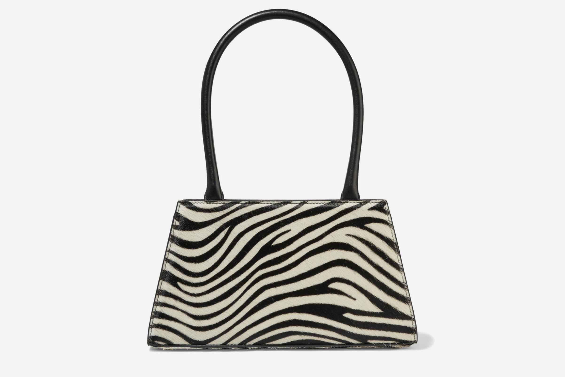 Rixo Dora Leather & Calf Hair Bag