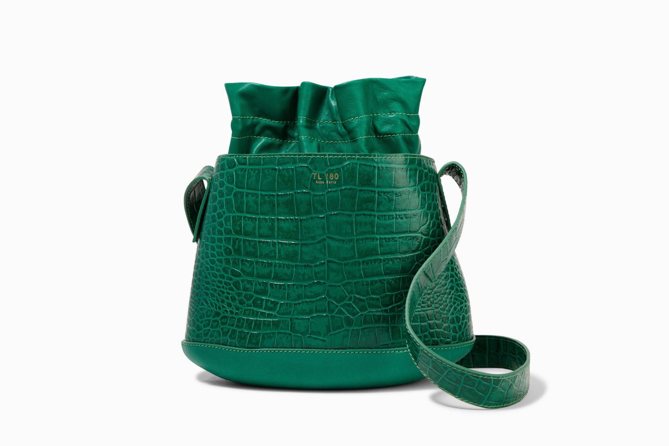 TL-180 La Marcello Leather Bucket Bag