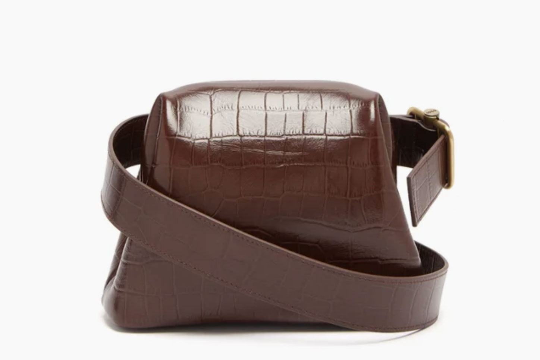 Osoi Croc-Effect Crossbody Bag