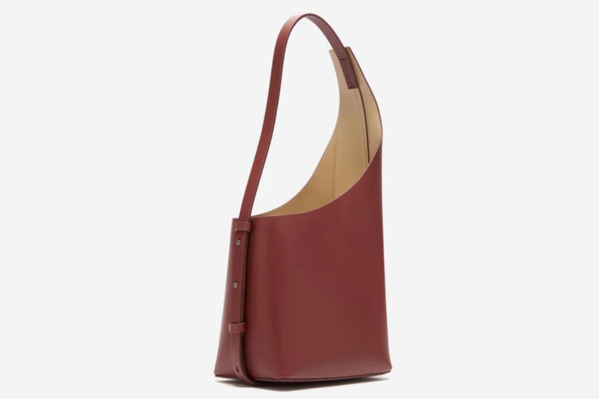 Aesther Ekme Demi Lune Leather Bucket Bag