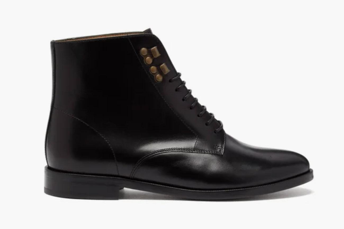 A.P.C. Frances Lace-up Leather Boots