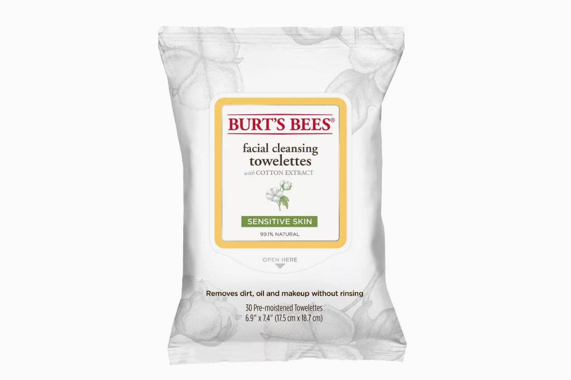 Burt's Bees Facial Cleansing Towelettes Sensitive Skin