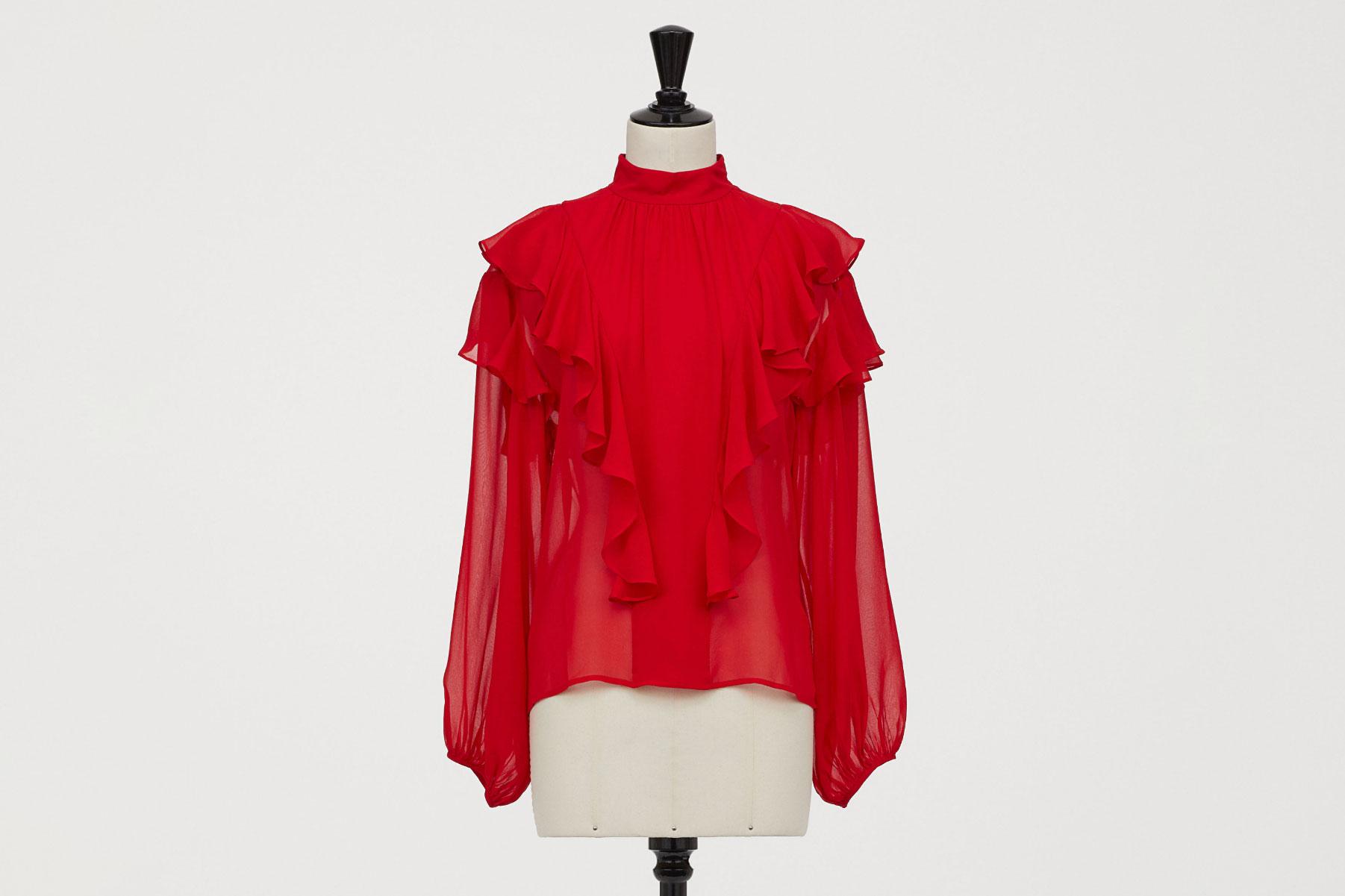 H&M x Giambattista Valli Silk Chiffon Blouse