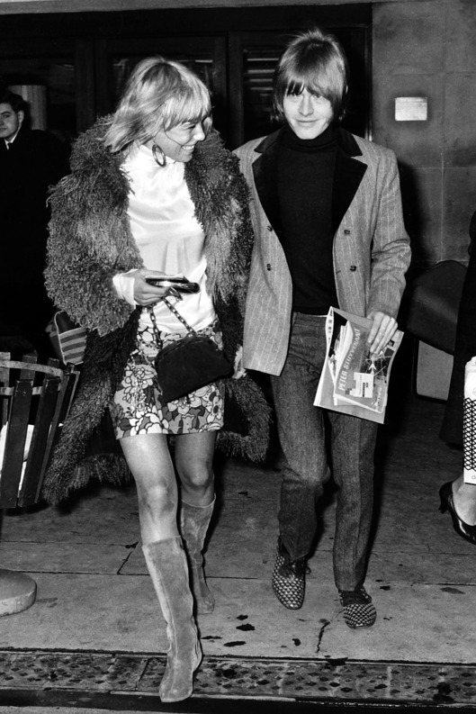Music, Personalities, pic: circa 1967, Brian Jones of the Rolling Stones group with one time girl friend, Swedish actress Anita Pallenberg  (Photo by Bentley Archive/Popperfoto/Getty Images)