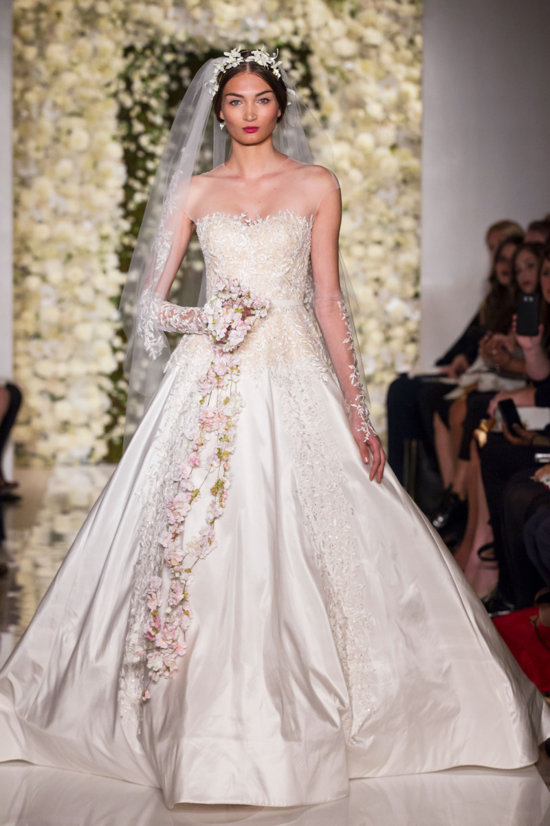 Reem acra fall 2015 bridal the cut for Top 10 most beautiful wedding dresses
