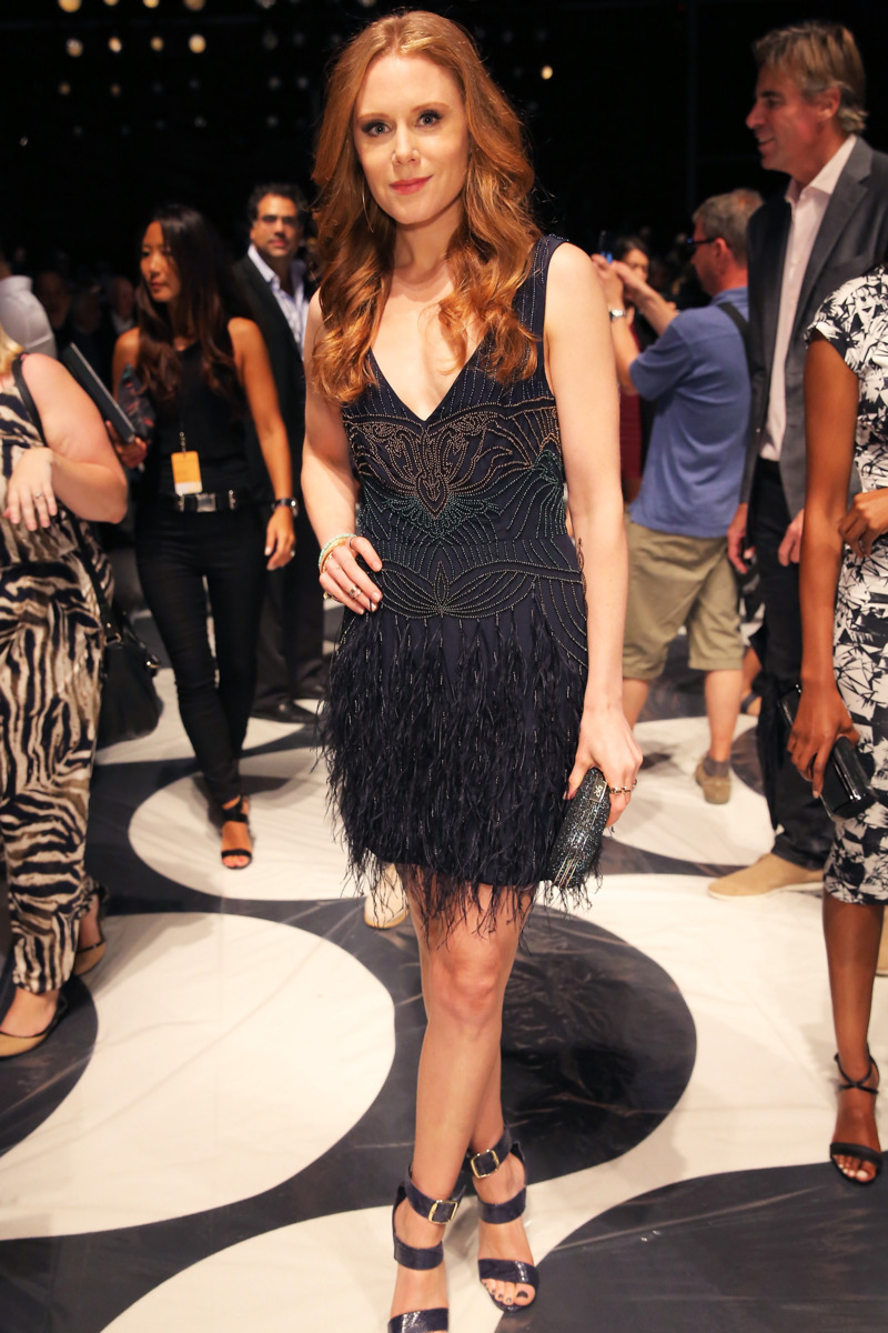 Christine Seidel - Backstage and Front Row: Nicole Miller Spring 2015 - The Cut
