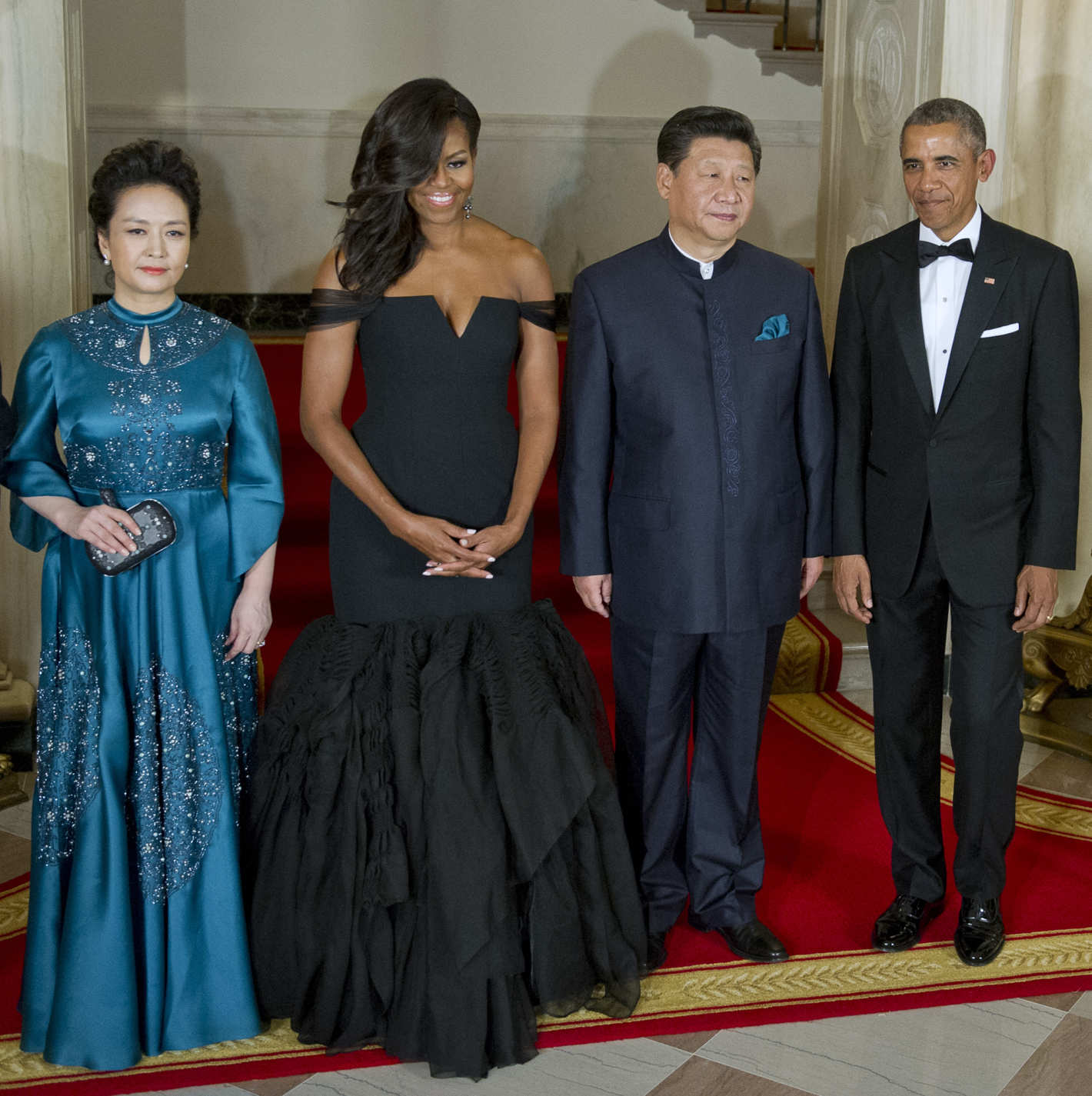 Michelle obama killed it in vera wang at last night s white house state dinner
