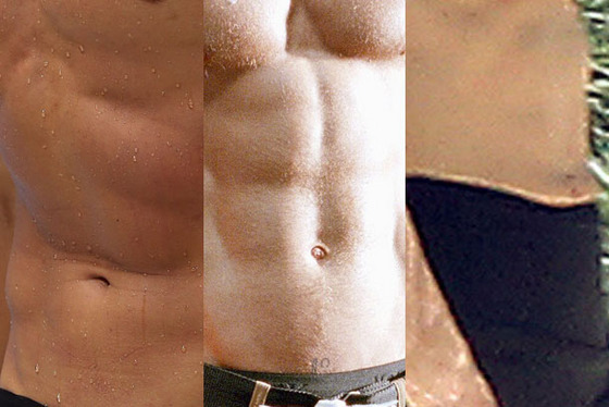 Guess the owner of each set of abs. Write it down, maybe. Then click ahead to see the answer ...