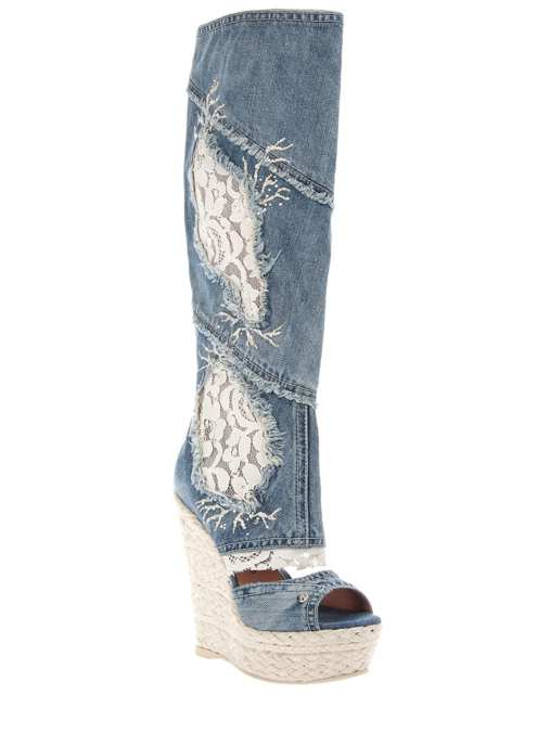 Photo 29 from Gianmarco Lorenzi Knee-High Denim Boots, 2012