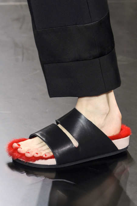 Photo 16 from Céline Mink Lined Sandals, S/S 2012