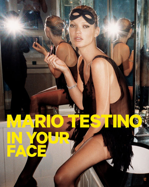 Mario Testino: In Your Face poster Kate Moss, London, 2006 © Mario Testino. From the exhibition In Your Face by Mario Testino at the Museum of Fine Arts, Boston.