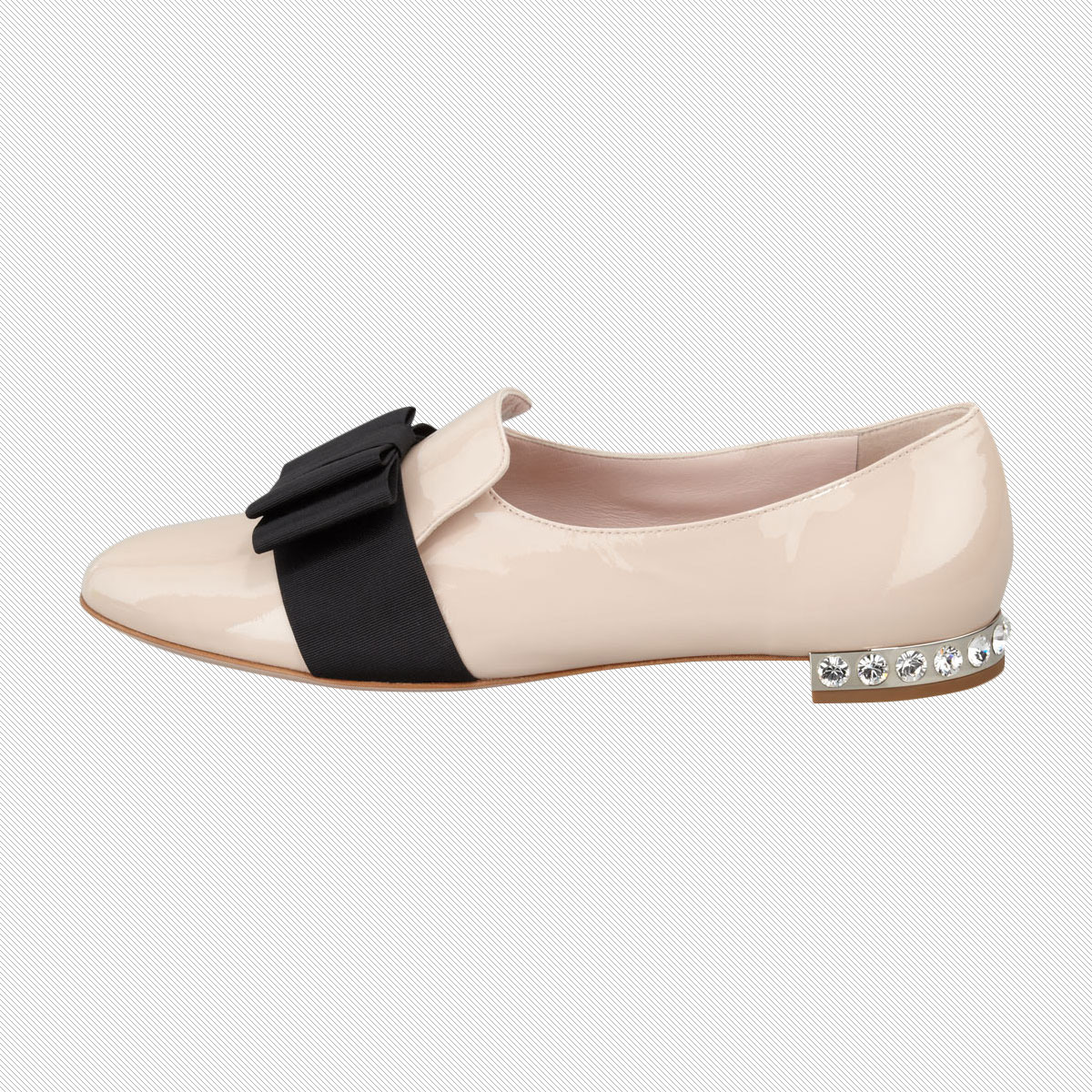 Miu Miu Patent Leather Grosgrain Bow Loafer - Festive And ...