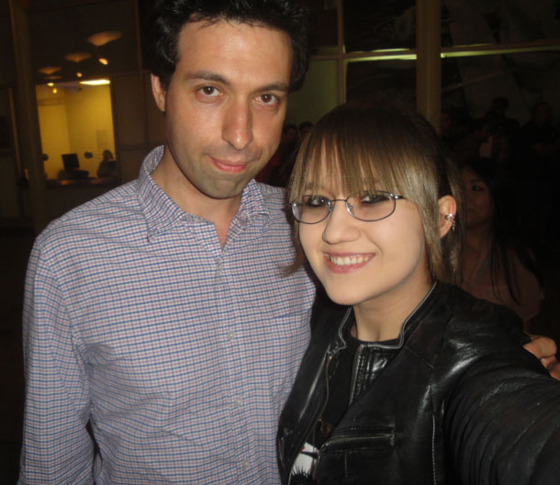 Sarah with Alex Karpovsky