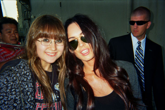 Sarah with Megan Fox