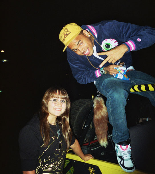 Sarah with Chris Brown