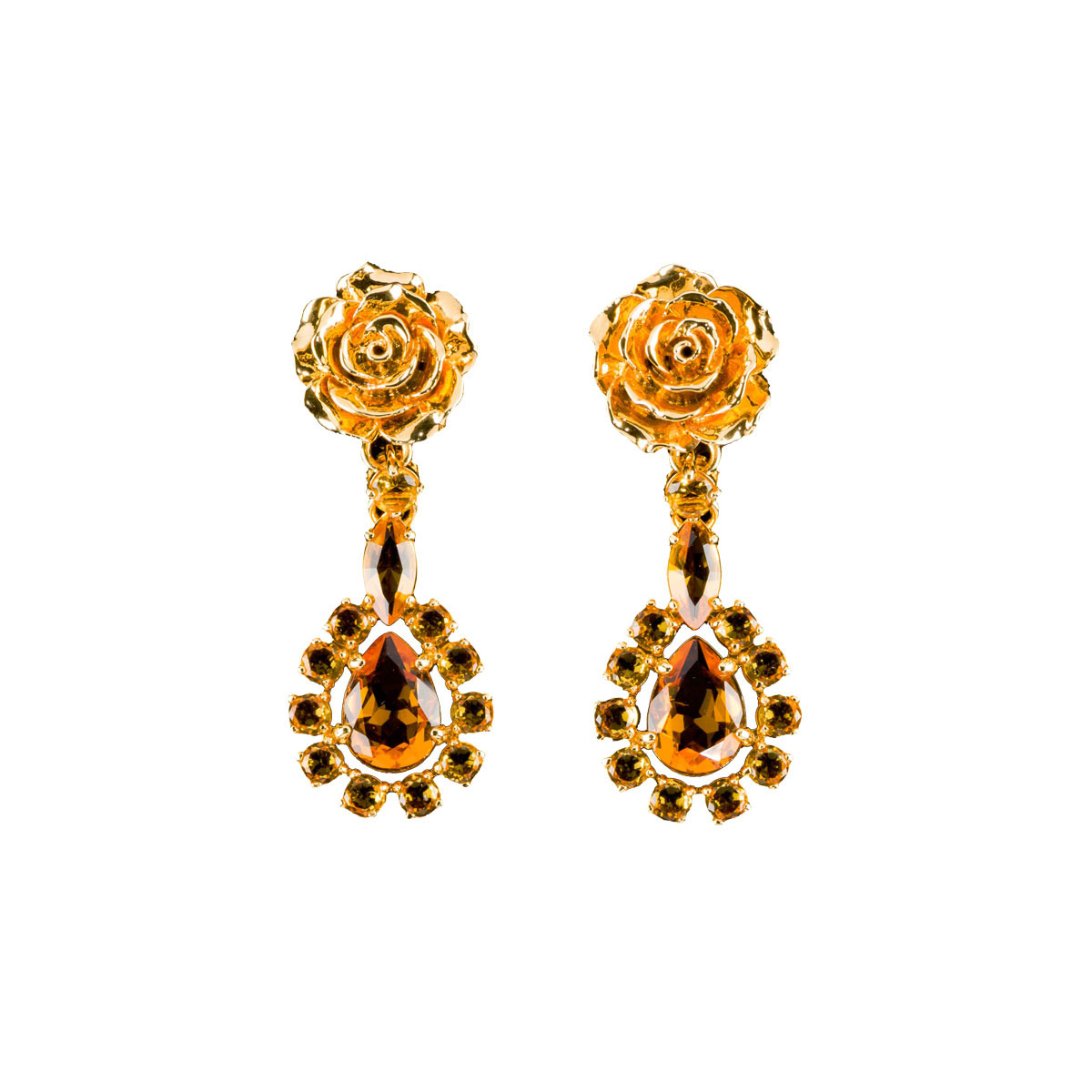 Prada Rose Earrings