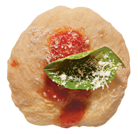 "$5 <i><a href=""http://nymag.com/listings/restaurant/forcella-bowery/"">Forcella</a></i>      Two deep-fried puffs of dough with a splash of tomato, a grate of Parmesan, and a finishing-touch basil leaf­—pizza as hors d'oeuvre."