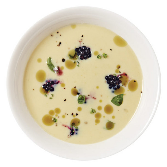 "A pea soup and an asparagus-with-candied-rhubarb have already come and gone on the rapidly changing menu; don't miss the creamy corn purée, garnished with blackberries and given an acidic bite with fruit vinegar made by a monk upstate. <i>$8; 109 N. 3rd St., nr. Berry St., Williamsburg; 718-782-2602. (<a href=""http://nymag.com/listings/restaurant/parish-hall/"">See the Listing</a>) </i>"