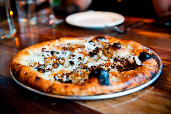 "<b><a href=""http://www.oenotri.com/"">Oenotri</a></b>    <i>1425 First Street, Napa</i>         The best pizza you'll find in the city of Napa is here, at Tyler Rodde and Curtis Di Fede's popular downtown spot. People line up before 5 p.m. to snag the few walk-in seats at the bar, and the wine list is, naturally, on par with the food. The wood-fired pizzas are top-notch, with toppings that change frequently, though a favorite is just a simple Margherita with anchovies added on; or the funghi pie (pictured) with yellow foot mushrooms, cream, thyme, and taleggio."