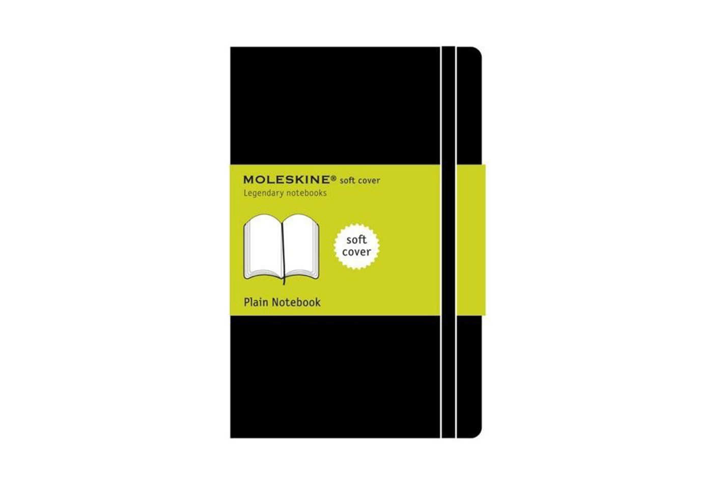 Moleskine Classic Plain Large Notebook, Soft Cover