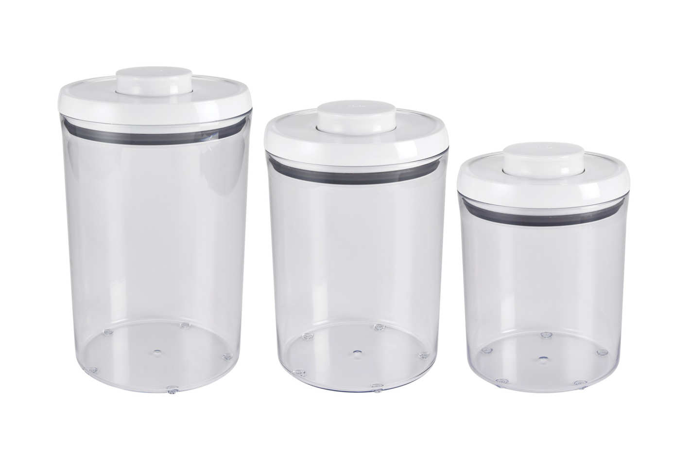 OXO Good Grips 3 Piece Pop Round Canister Set - White