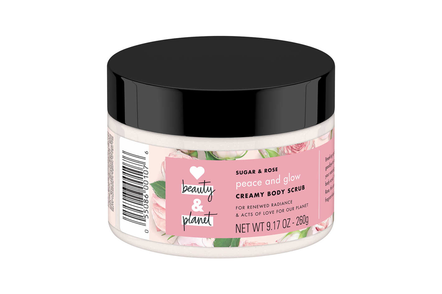 Love Beauty and Planet Sugar and Rose Scrub Peace and Glow Creamy Body Scrub