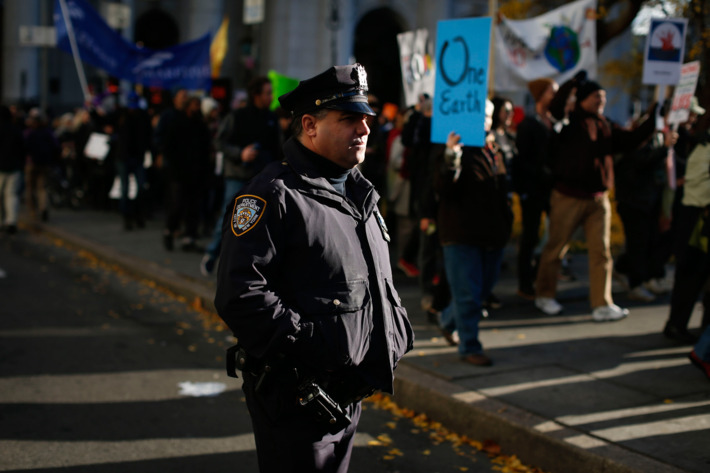 Environmental Activists Hold Rally And March In Lower Manhattan