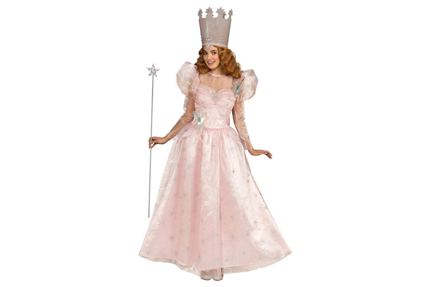 Rubie's Costume Wizard of Oz Deluxe Adult Glinda the Good Witch Dress With Crown