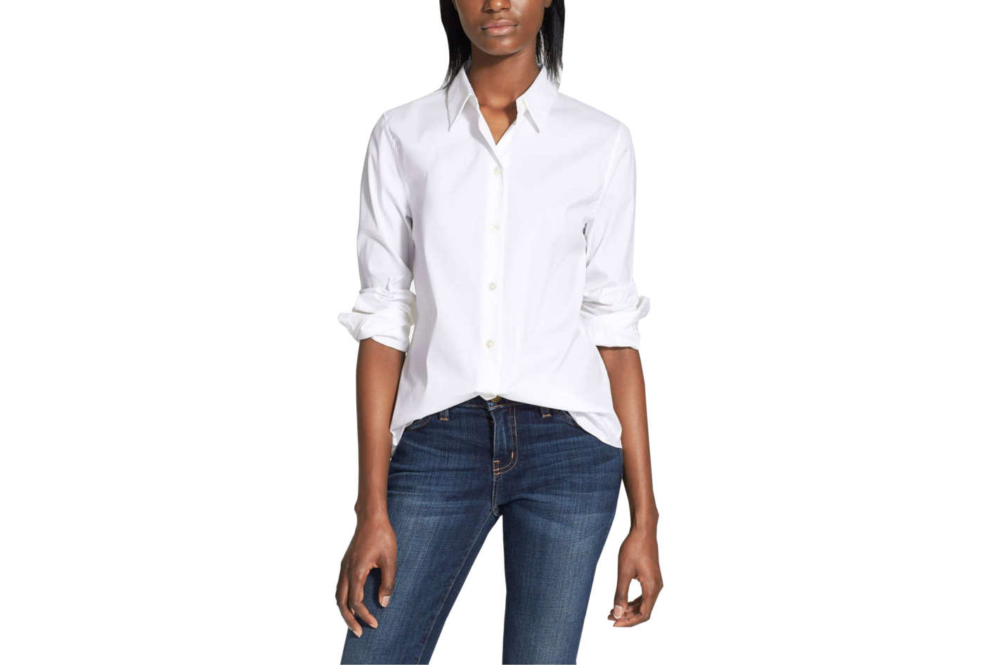Perfect is just the word for it—a white shirt goes effortlessly with any ensemble, whether dressed down with denim, or up with a ball skirt a la the designer Carolina Herrera's most famous look. Instead of thinking of a white shirt as a limiting, boring piece, consider it a blank canvas on which you can create your own personal style.