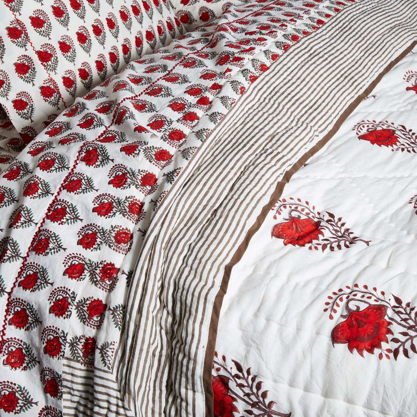 Roller Rabbit for One Kings Lane Ketaki Quilt, Soft Red