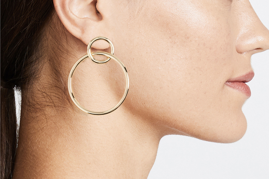 Shashi Double Circle Hoop Earrings