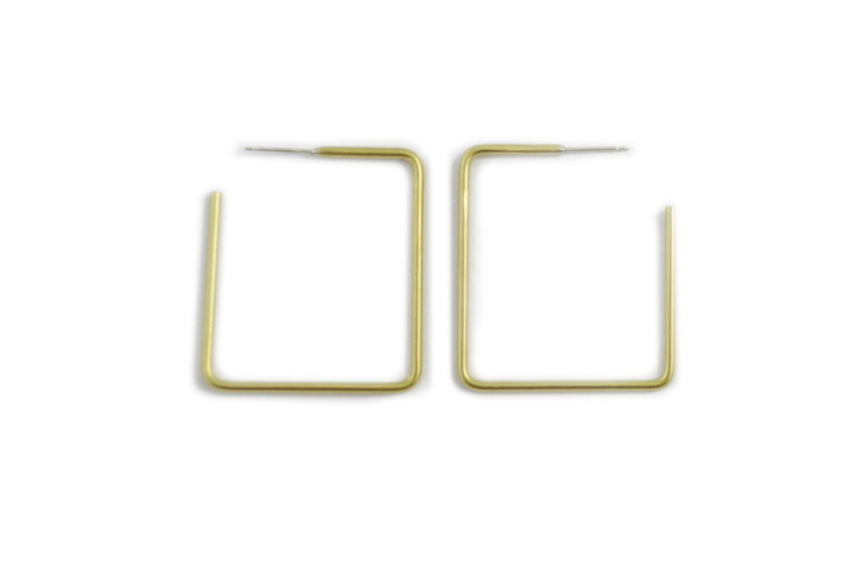 Natalie Joy Simple Square Hoops