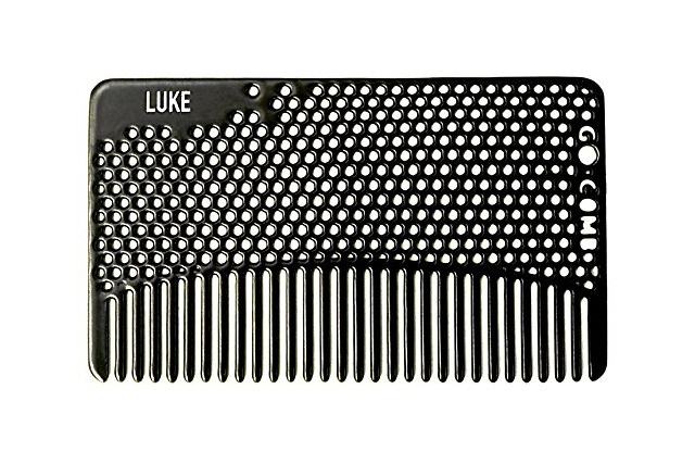 Personalized Custom Wallet Comb