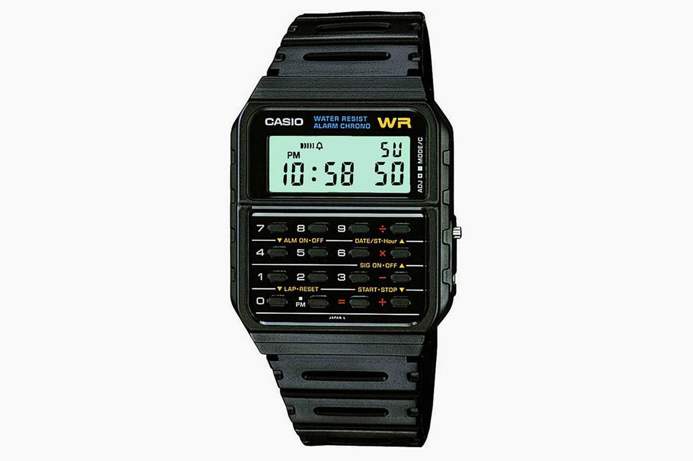 Casio 'Databank' Quartz Resin Casual Watch