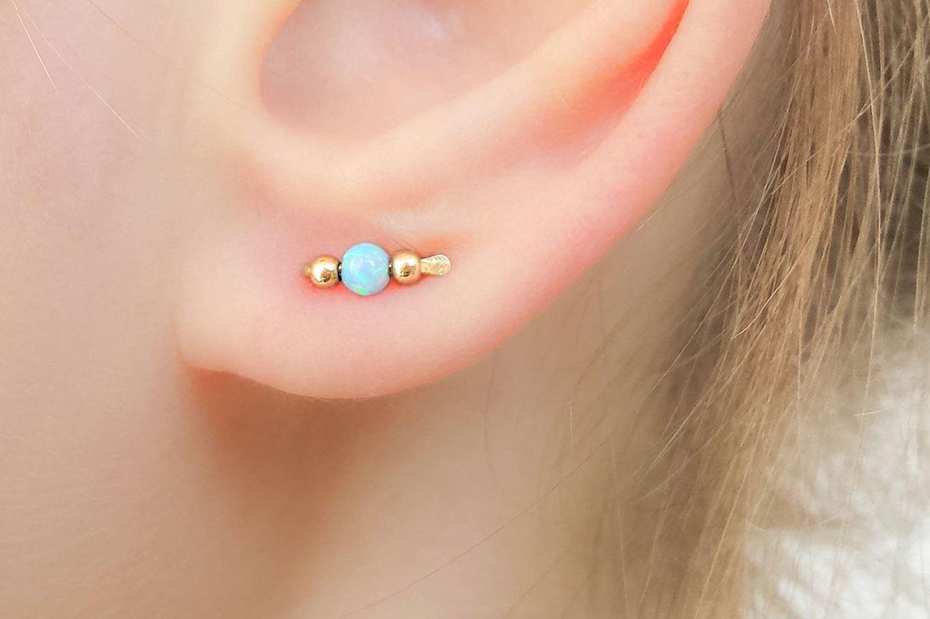 MoonliDesigns Opal Stud Earrings