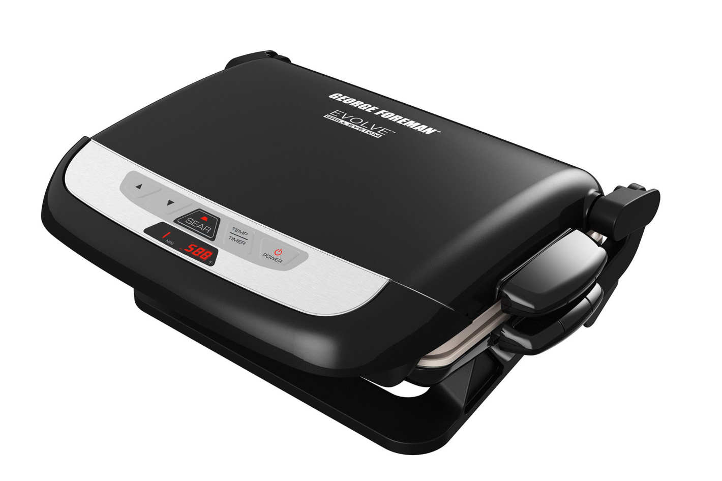 George Foreman GRP4842MB Multi-Plate Evolve Grill, Black