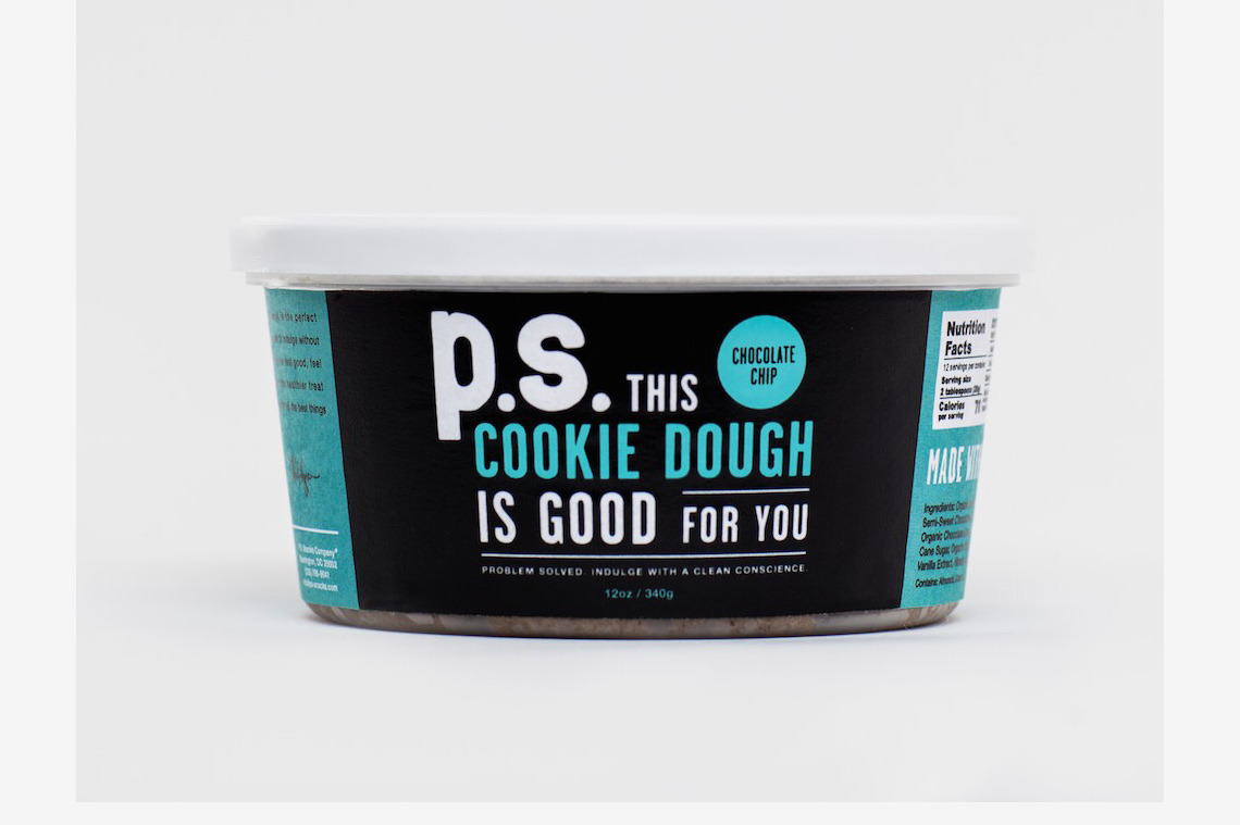 P.S. Snacks Chocolate Chip Cookie Dough, 12 Oz.